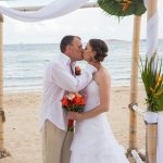 happy wedding moment first kiss st thomas